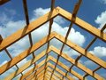 Wooden Roof Construction Stock Photos - 15890933