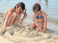 Sand Castle Stock Image - 1593101