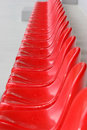 Red Stadium Seats Stock Photos - 1599693