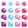 Colored Web Buttons Stock Photography - 15907062