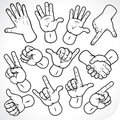 Sketching Hands Royalty Free Stock Photography - 15923937