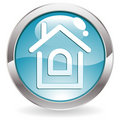Gloss Button With Home Stock Photography - 15924792