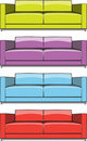 Sofa In Some Color Variations Stock Image - 15930951