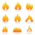 Various Flame And Fire Icons Stock Photography - 15934032