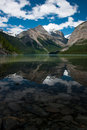 Reflection Of Mount Robson In Kinney Lake Royalty Free Stock Image - 15943576