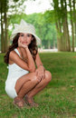 Beautiful Young Woman In Versailles Gardens Stock Images - 15967944