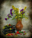 Field Flowers And Berries Royalty Free Stock Images - 15971309