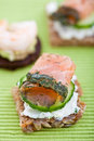 Appetizer Of Smoked Salmon Stock Image - 15980001