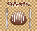 Card With Chocolate Candy Stock Photography - 15985472