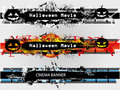 Grunge Banners Set For Halloween And Plain Stock Photo - 15987310