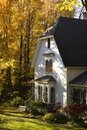Waterloo, Quebec, Canada; House In Autumn Stock Photo - 15993810