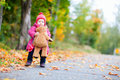 Toddler Girl With Teddy Bear Outdoors Royalty Free Stock Image - 16006956