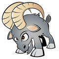 Angry Cartoon Ram Stock Images - 16018544