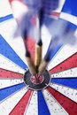Dart Board With Bulls Eye Stock Images - 16023554