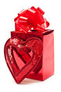 Present With Heart Royalty Free Stock Photo - 16044215