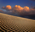 Sand Ripples And Clouds Royalty Free Stock Photo - 16057865
