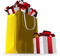 Gift Bag Final And Presents Stock Images - 16066154