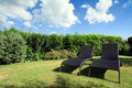 Wicker Lounge Chairs Royalty Free Stock Photography - 16068477