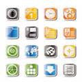 Simple Mobile Phone, Computer And Internet Icons Stock Photos - 16085133