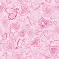 Pink Background With Scribble Hearts,  Stock Photos - 16089503