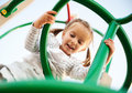 Attractive Little Girl On  Playground Royalty Free Stock Photos - 16090288