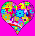 Funky Retro Psychedelic Heart Royalty Free Stock Photography - 16094567