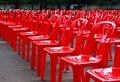 Red Empty Chairs Royalty Free Stock Photography - 16113557