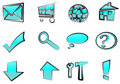 Set Of Web Icons - Buttons Royalty Free Stock Images - 16118499
