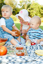 Picnic For Kids Royalty Free Stock Image - 16121136