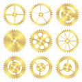 Assorted Brass Gears Royalty Free Stock Image - 16124466