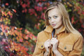 Woman In Autumn Park Royalty Free Stock Images - 16137399
