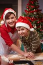 Mum And Son Having Fun At Christmas Baking Stock Photos - 16145163