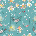 Flower Seamless Pattern Royalty Free Stock Image - 16168236