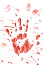 Bloody Handprint With Splatter Royalty Free Stock Photo - 16171495