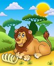 Cute Lion With Bone Royalty Free Stock Photo - 16174595