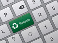 Recycle Button On Keyboard Royalty Free Stock Photography - 16179307