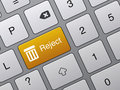 Reject Enter Button On Laptop Royalty Free Stock Images - 16179339
