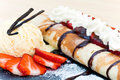 Crepes With Strawberries Royalty Free Stock Image - 16190406