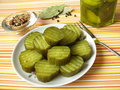 Pickled Gherkins Royalty Free Stock Photography - 16191217