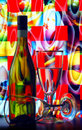 Wine Bottle And Glasses Royalty Free Stock Image - 16193166