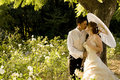 Just Married Couple Standing And Kissing Stock Photos - 16195743