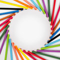 Color Pencils Frame Royalty Free Stock Images - 16200359