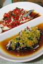 Steamed Fish Head With Diced Hot Red Peppers Royalty Free Stock Photo - 16205595