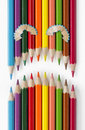 Sad Face Of Color Pencils Stock Images - 16214094