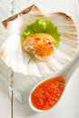 Scallop With Eggs Salmon Stock Image - 16214331