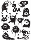 Monsters Silhouettes Stock Image - 16220891