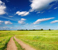 Landscape With Country Road Royalty Free Stock Images - 16233859