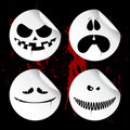 Monster Smileys, Halloween Stickers. Royalty Free Stock Photography - 16236267