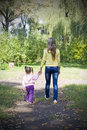 Girl And Her Mother In Autumn Park Royalty Free Stock Image - 16239176