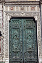 Bronze Door Symbols Duomo Cathedral Florence Italy Stock Photography - 16273782